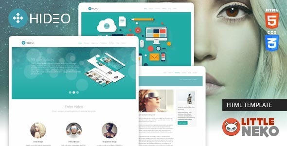 ThemeForest Hideo HTML5 Bootstrap Website Template 6619375
