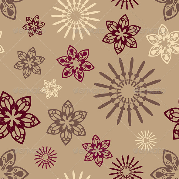 GraphicRiver Flowers Seamless Pattern 6619383