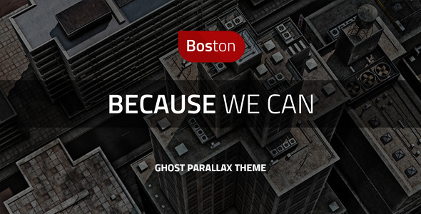 Boston - Corporate Parallax GHOST Template - Ghost Themes Blogging