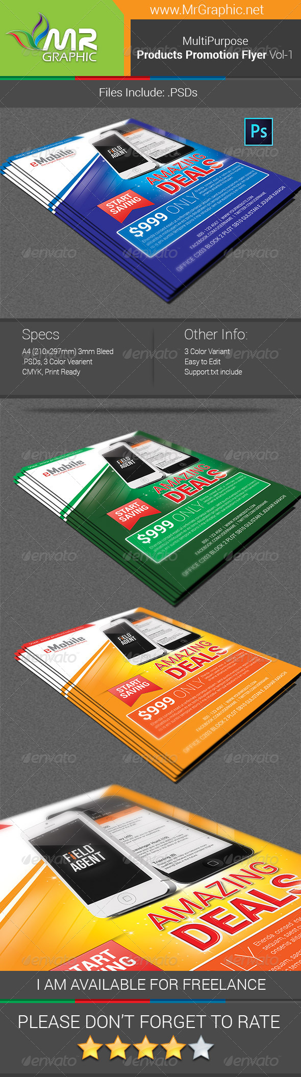 GraphicRiver Products Promotion Flyer Vol-01 6160638