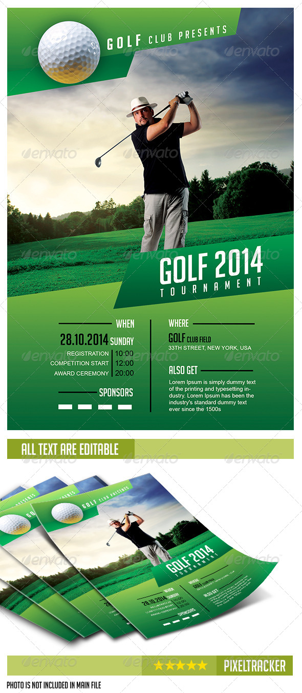 Free Golf Tournament Flyer Template Kubreforic