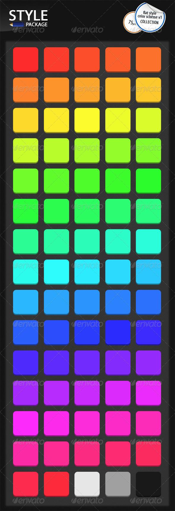GraphicRiver Flat Styles Color Scheme v1 6619491