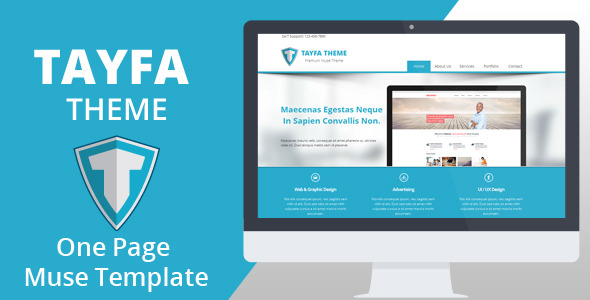 Tayfa One Page Muse Template