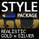 Realistic Gold & Silver Styles - GraphicRiver Item for Sale