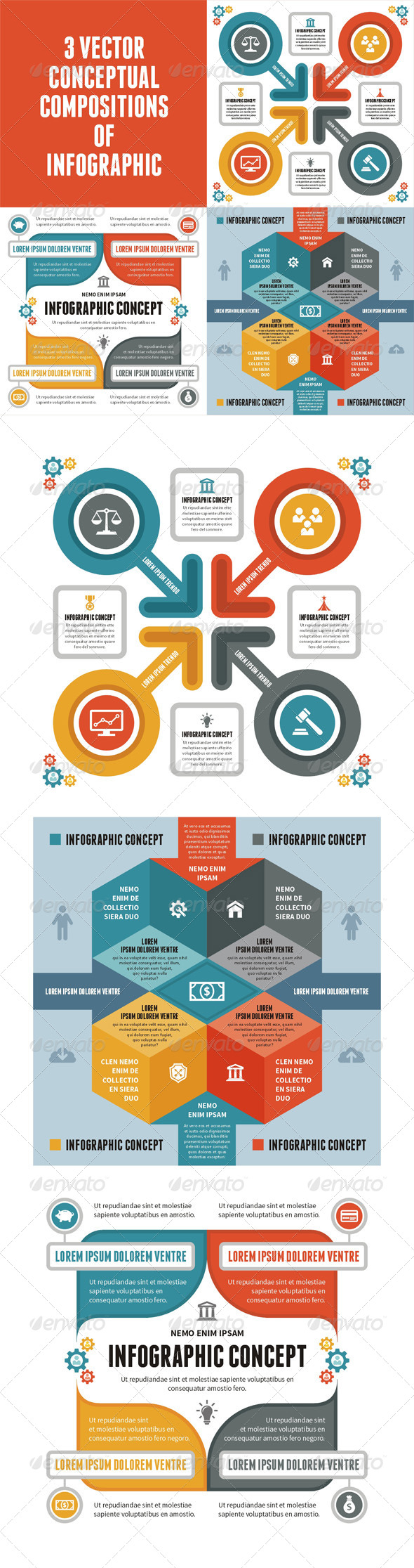 GraphicRiver 3 Infographic Concept for Presentation 6619556