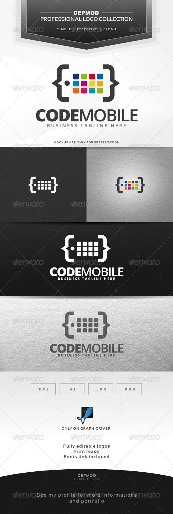 Code Mobile Logo - Symbols Logo Templates
