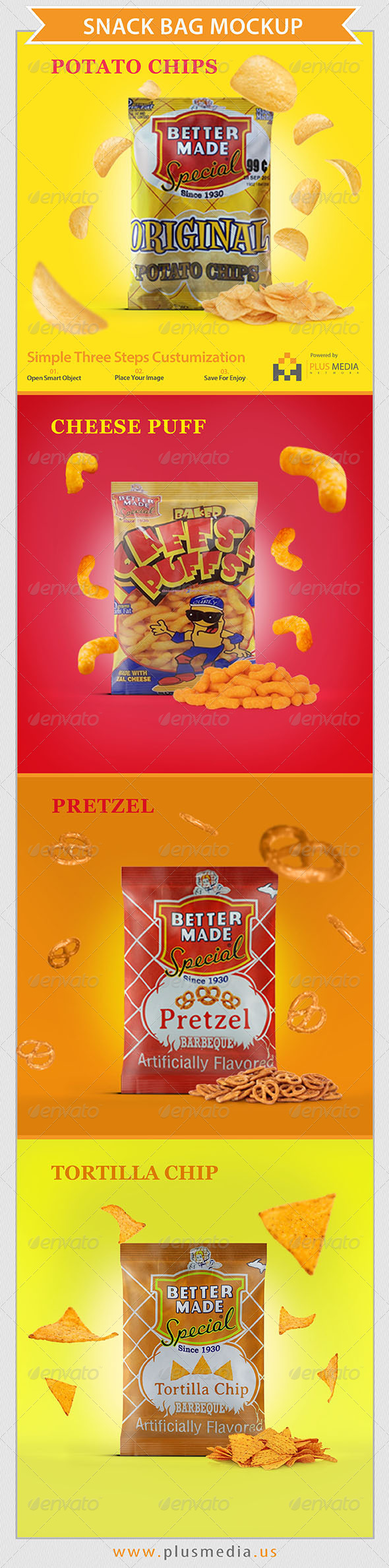 GraphicRiver Snack Bag Mockup 6619716