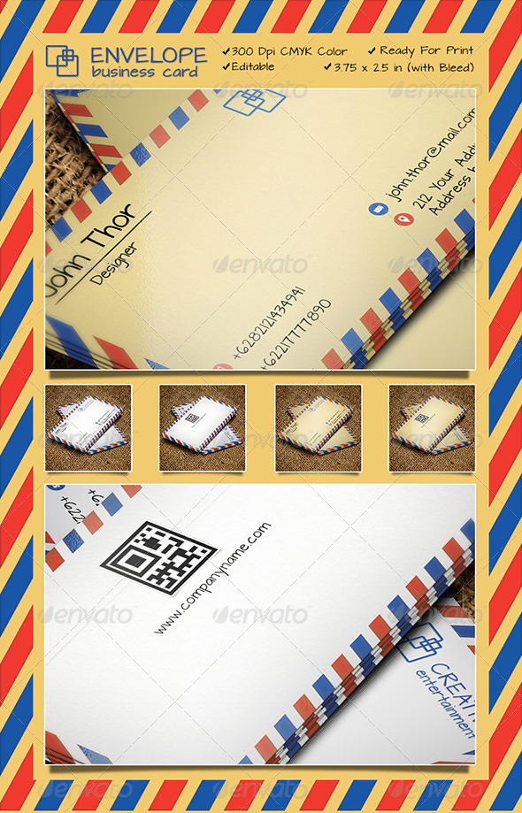 GraphicRiver ENVELOPE BUSINESS CARD 6619446