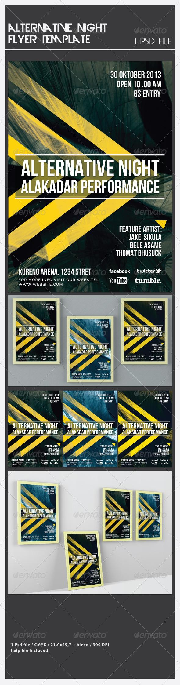 GraphicRiver Alternative Night Flyer Template 6619828