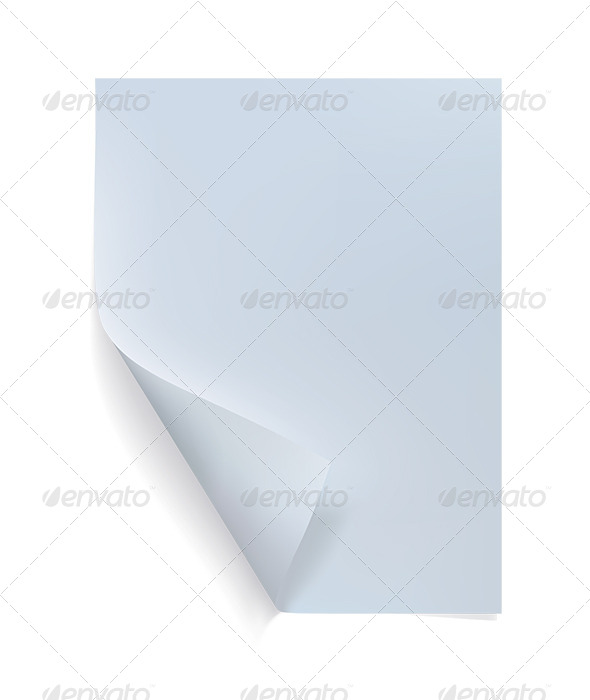 GraphicRiver Blank Sheet of Paper with Curl 6620059