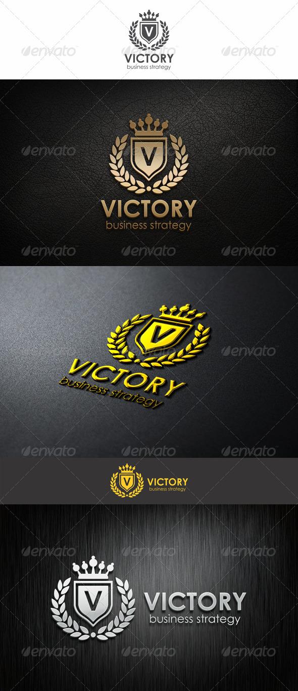 Victory - Heraldic Elegant Logo - Crests Logo Templates