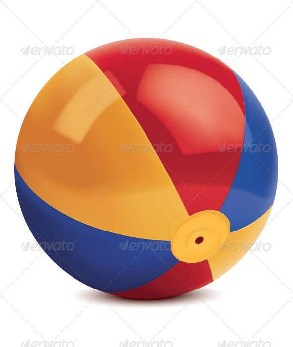 GraphicRiver Beach Ball Isolated on White 6620687