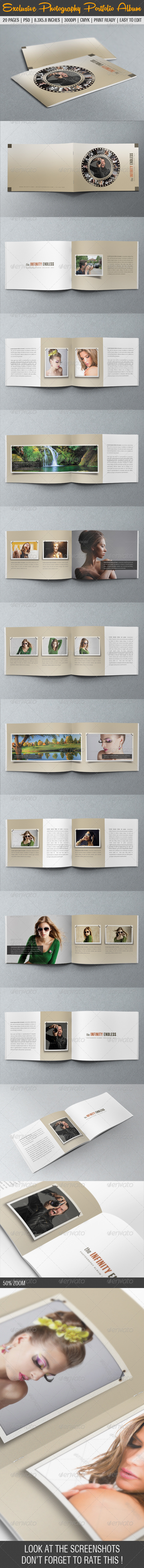 Exclusive Photography Portfolio Album 04 - Photo Albums Print Templates