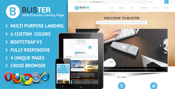 Blister Responsive Multi Purpose Landing Page