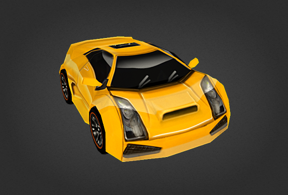 Yellow speed car - 3DOcean Item for Sale
