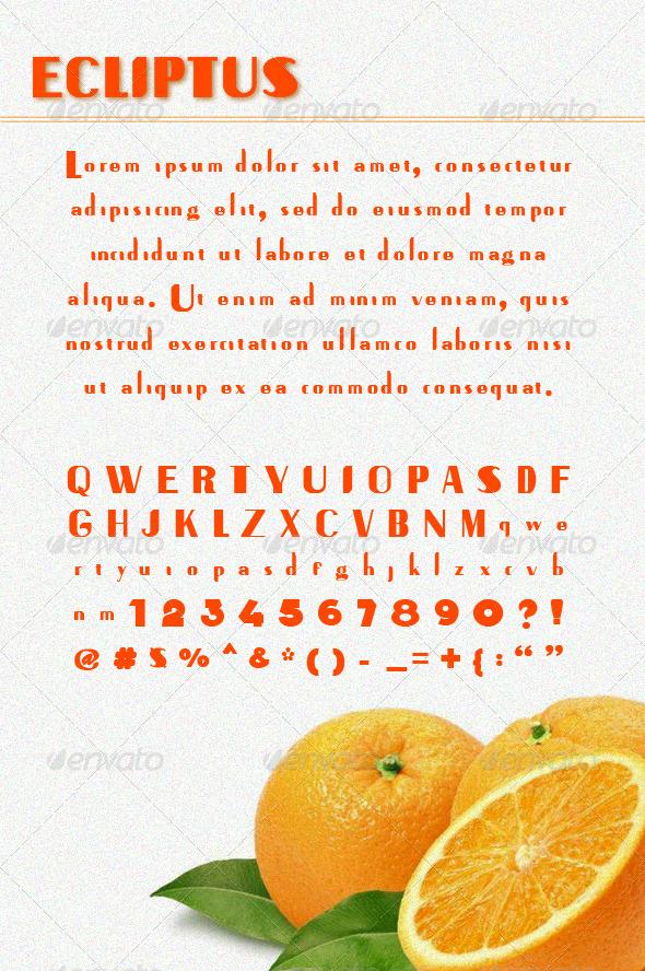 GraphicRiver Ecliptus Sans Serif Font 6621816