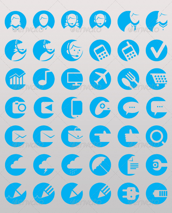 GraphicRiver Hollow Icons 6615272