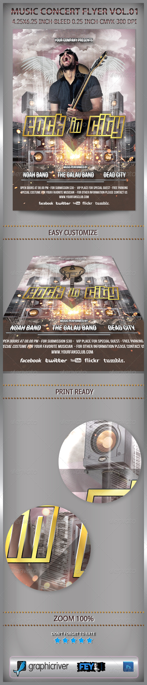 GraphicRiver Music Concert Flyer Vol.01 6621836