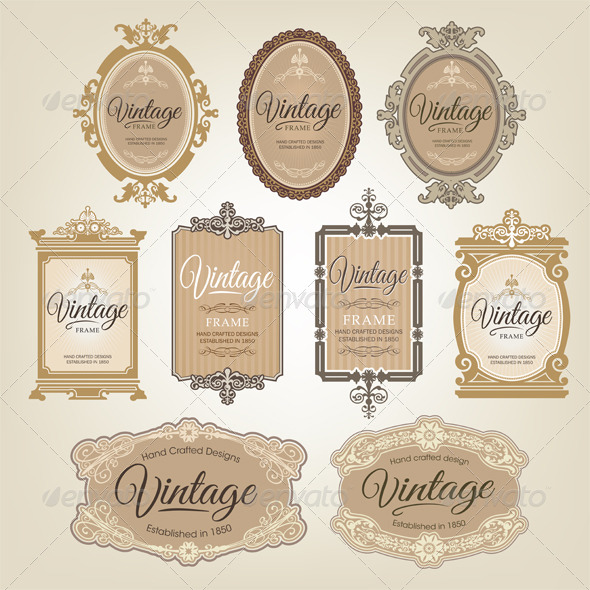 GraphicRiver Vintage Frame Set 2 6621838