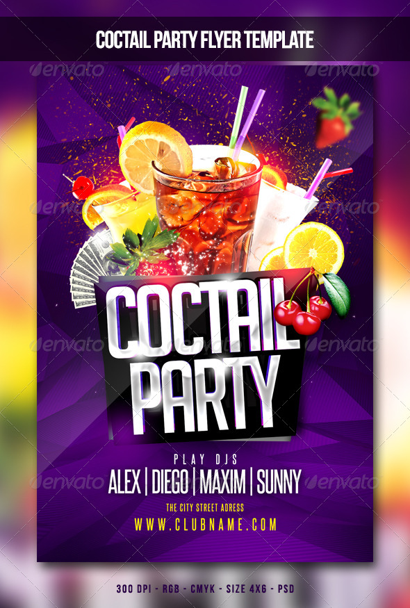 GraphicRiver Coctail Party Flyer 6621909