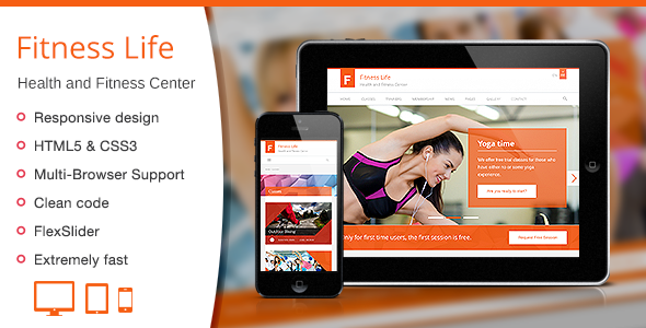 ThemeForest Fitness Life Gym Fitness HTML Template 6622805