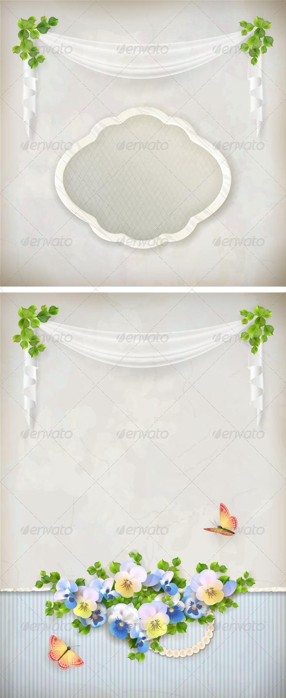 GraphicRiver Shabby Chic Romantic Vintage Background 6622809