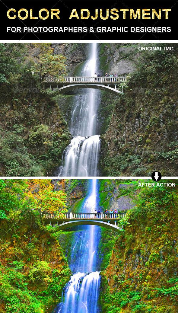 GraphicRiver Color Adjustment Photoshop Action 6622818