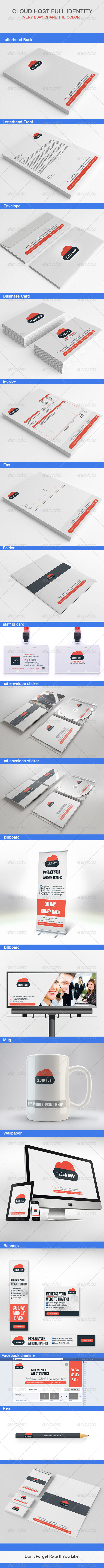 GraphicRiver Cloud Host Full Identity 6622841