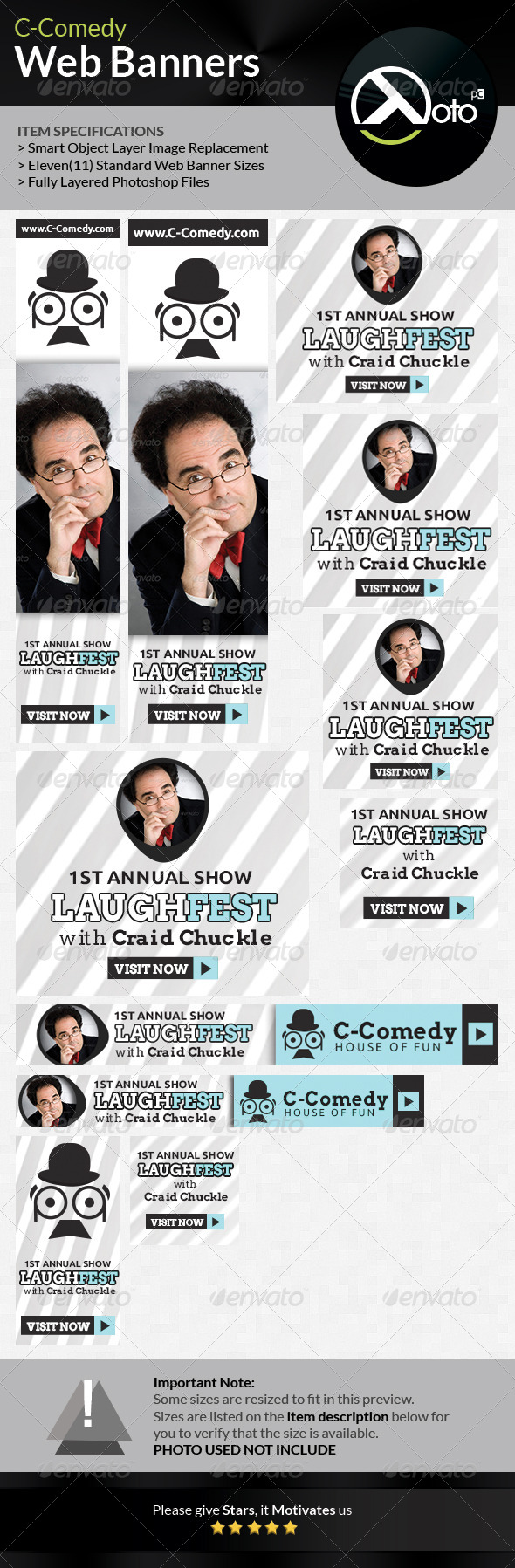 GraphicRiver Comedy Bar Shows Web Banners 6622844