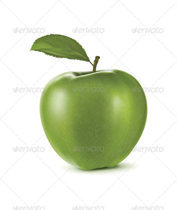 GraphicRiver Green Apple with Green Leaf 6622849