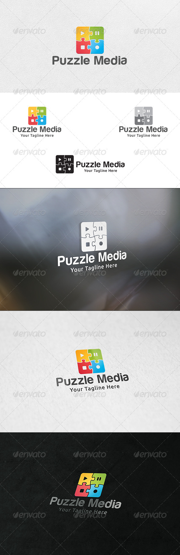 GraphicRiver Puzzle Media Logo Template 6622945