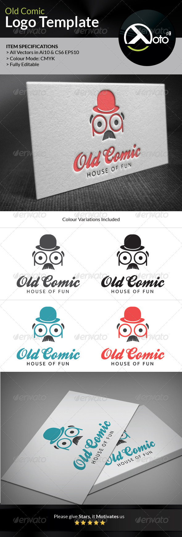 GraphicRiver Old Comic Comedy Bar Logo 6623200