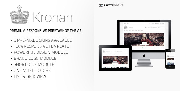 ThemeForest Kronan Responsive PrestaShop Theme 6618981