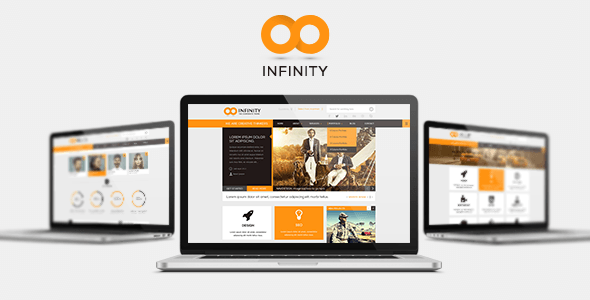 INFINITY  |  Flat PSD Template - Corporate PSD Templates