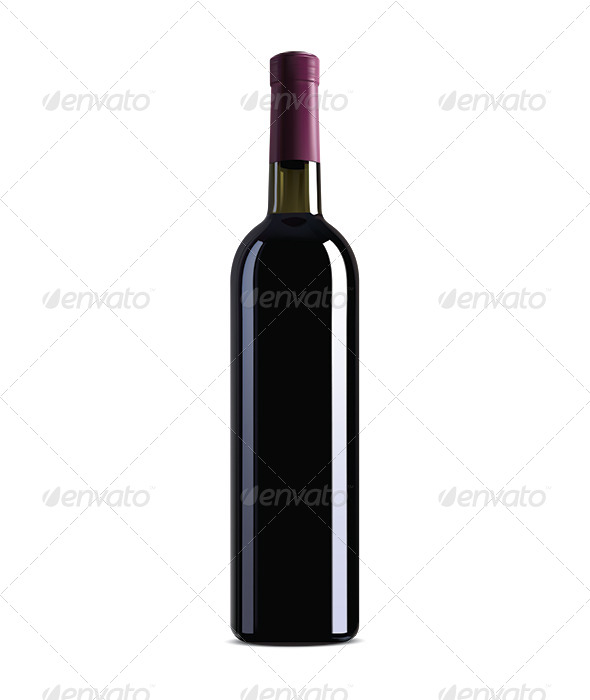 GraphicRiver Red Wine Bottle 6623737