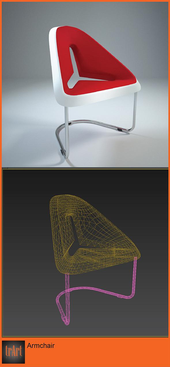 3DOcean Realistic ArmChair 6623892