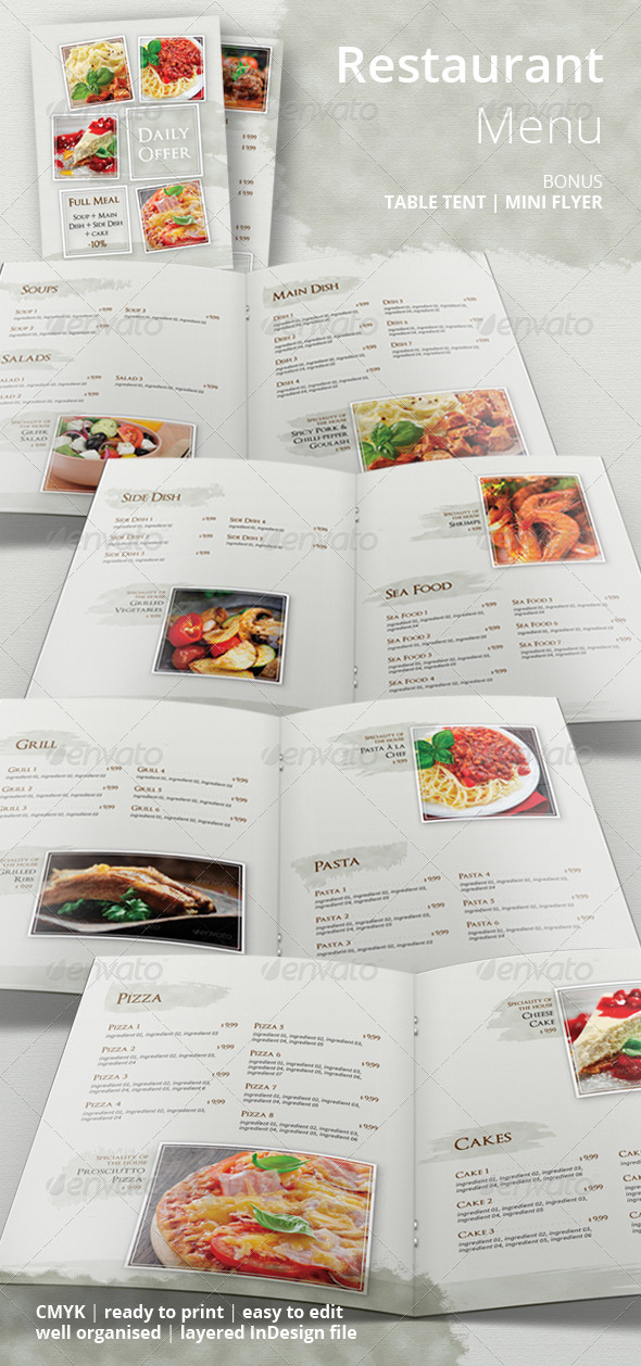 GraphicRiver Restaurant Food Menu 6624414