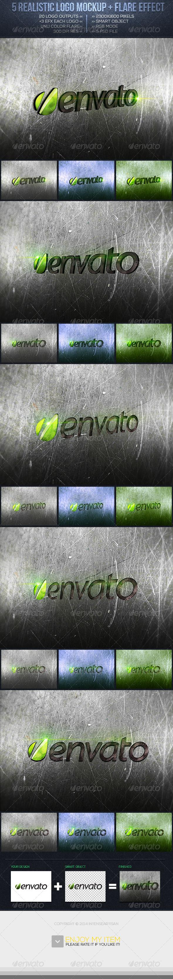 GraphicRiver Realistic Logo Mockup Vol.2 6624596