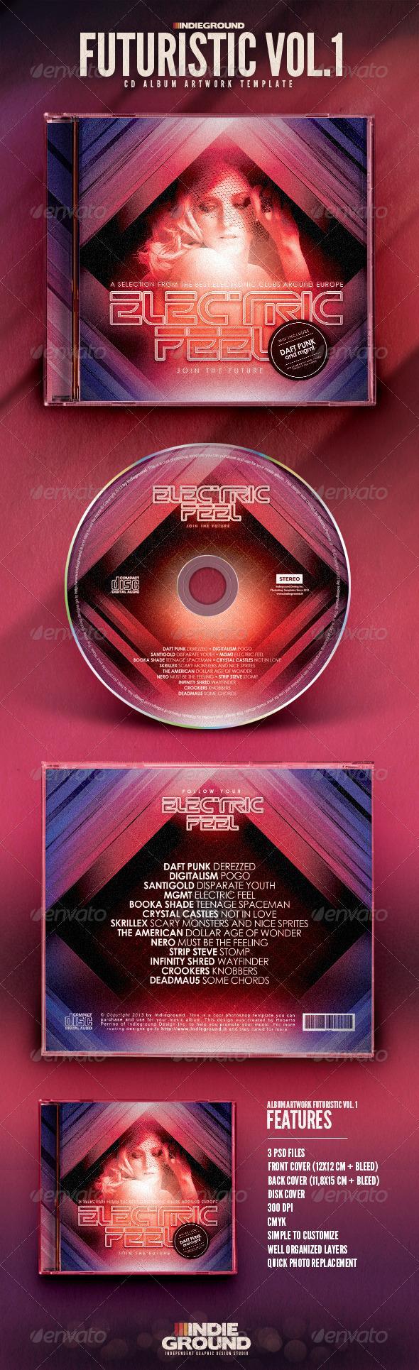 GraphicRiver Futuristic CD Album Artwork 6625303