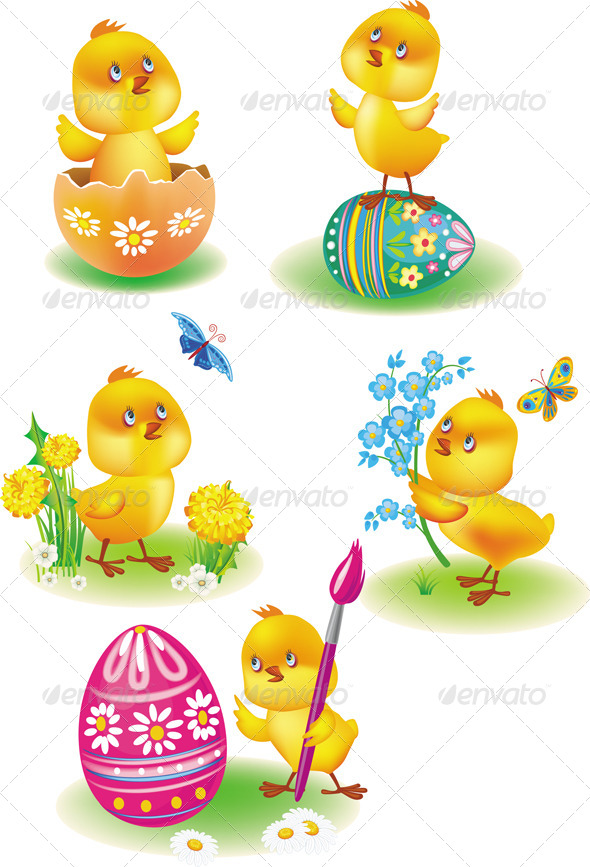 GraphicRiver Easter Chicks 6625426