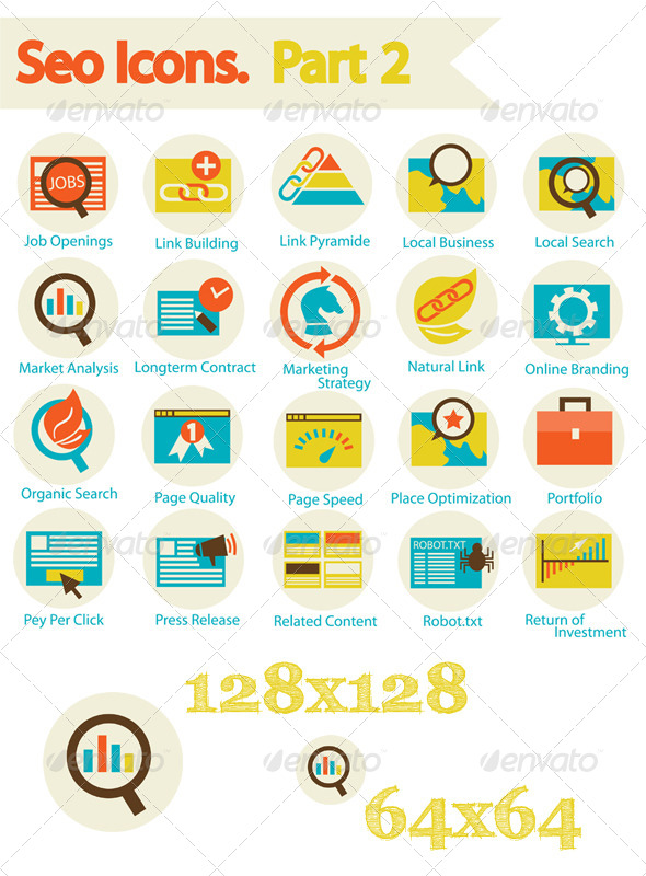 GraphicRiver SEO Icons Set Part 2 6625622