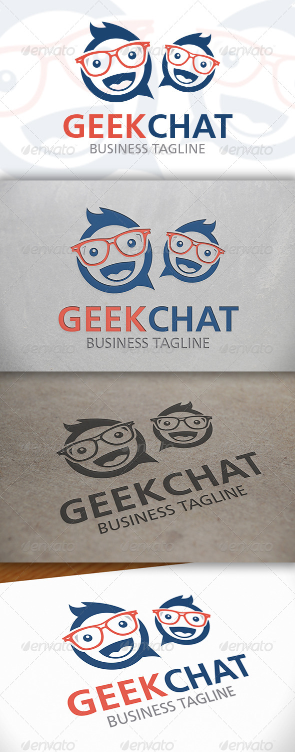 GraphicRiver Geek Chat Logo 6626128