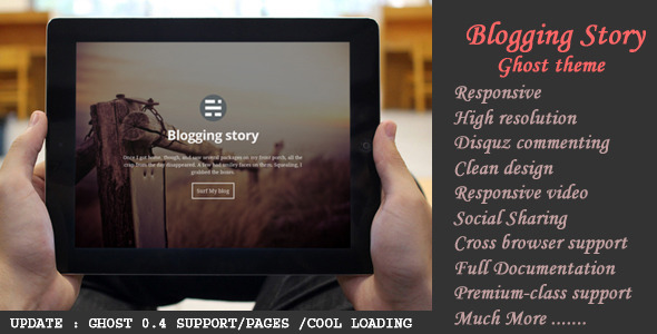 Blogging Story Responsive Ghost 0.4 Theme - Ghost Themes Blogging