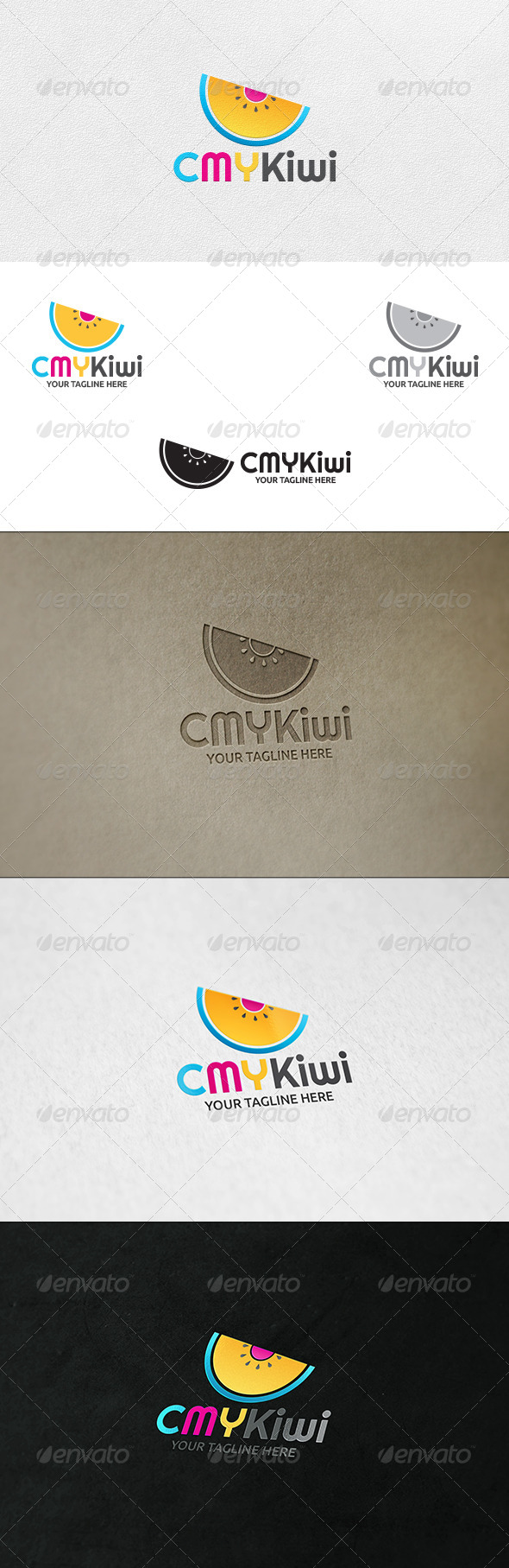 GraphicRiver CMYKiwi Logo Template 6626802
