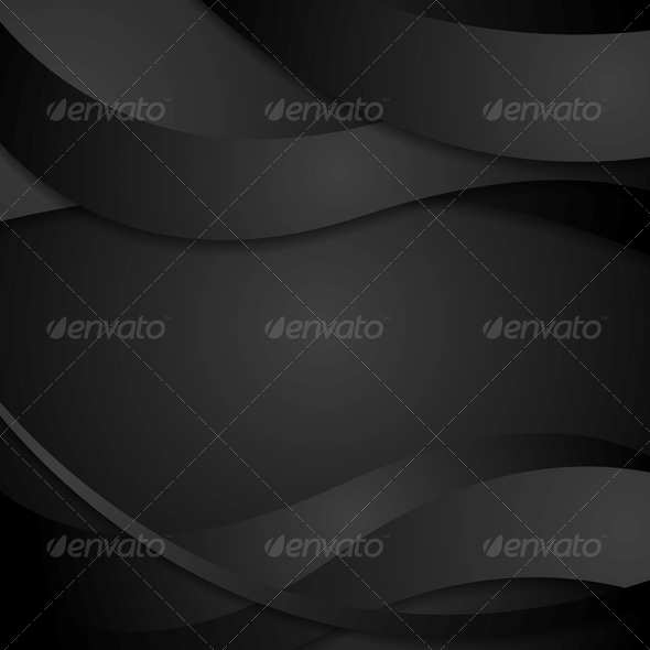 GraphicRiver Abstract Black Waves Background 6627413