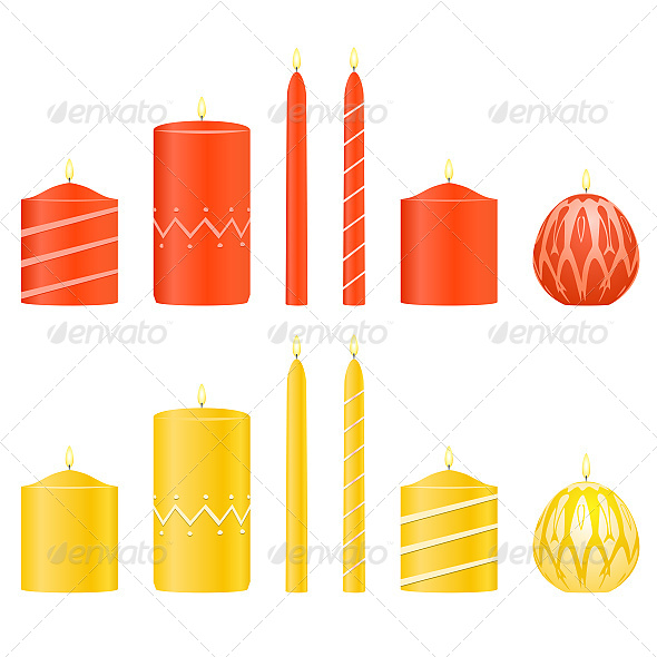 GraphicRiver Vector Set Candles 6627494
