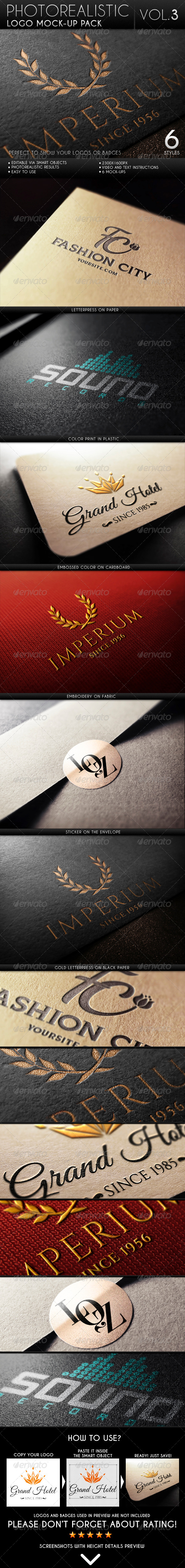 GraphicRiver Photorealistic Logo Mock-Up Pack Vol.3 6627640