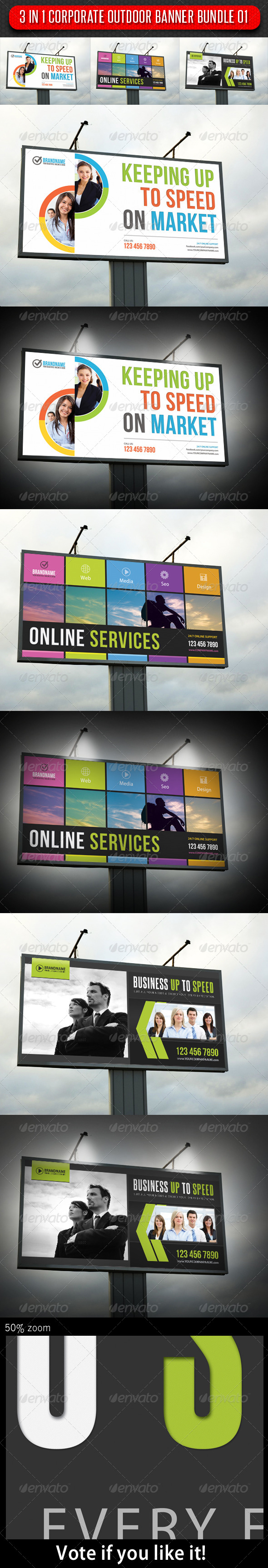 GraphicRiver 3 in 1 Corporate Banner Bundle 01 6627647
