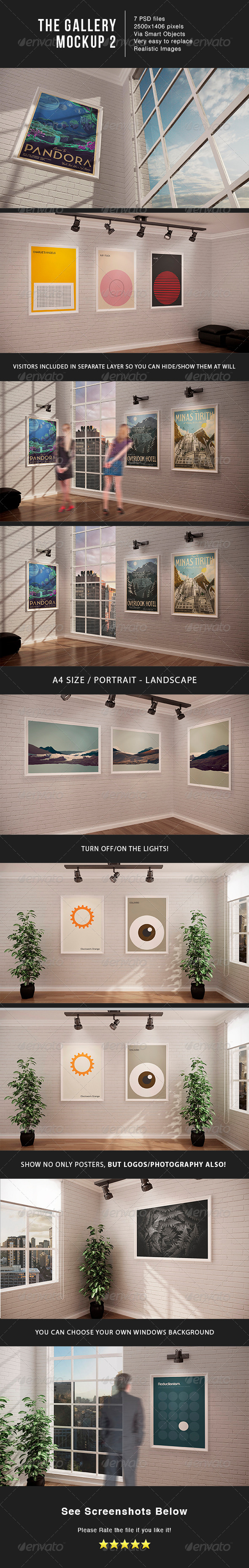 The Gallery MockUp 2 - Posters Print