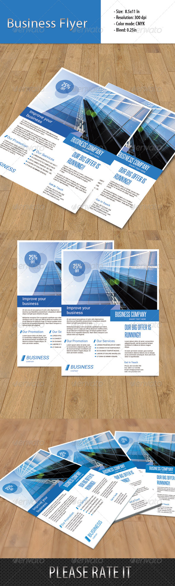 GraphicRiver Business Flyer Template 6627914